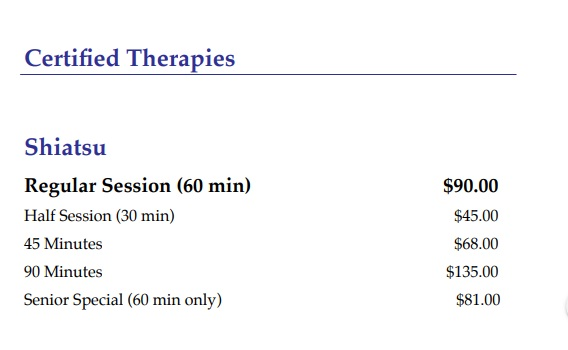 certified-therapies-pricelist